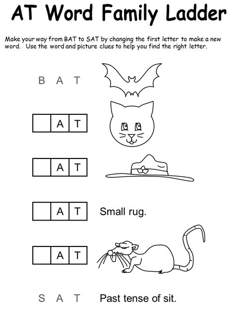 word families worksheet word work pinterest