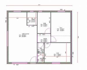 plan de maison 70 metre carre With plan petite maison 70 m2