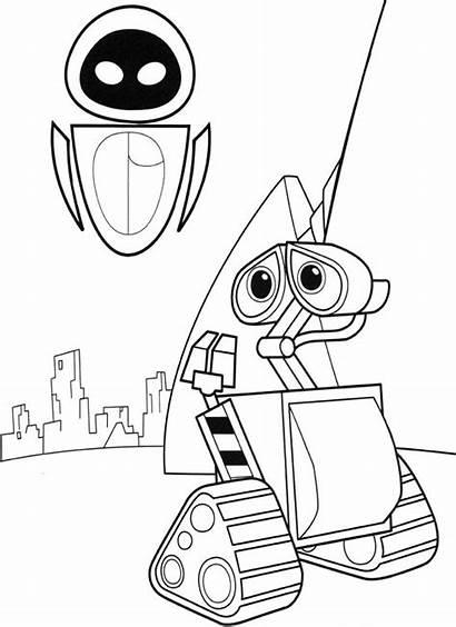 Colorear Dibujos Animados Coloring Walle Robot Disney