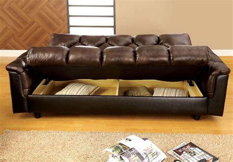 furniture  america   tone brown storage futon