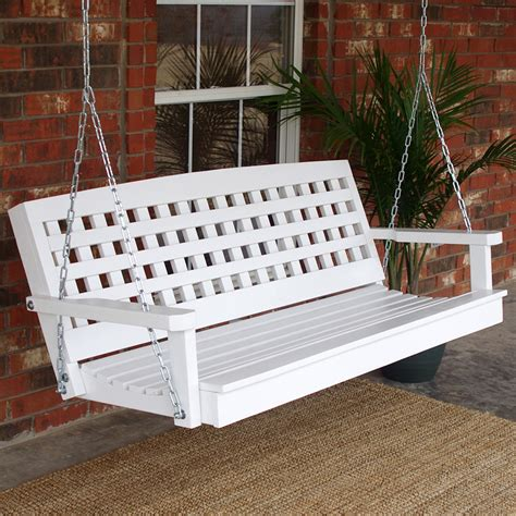 Porch Furniture Sale by Tmp Outdoor Furniture Lattice 3 Person White Porch Swings