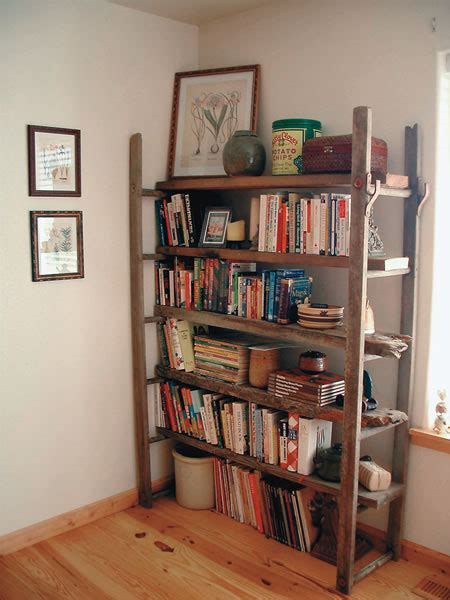 Rustic Ladder Bookcase by Country Lore A Rustic Bookshelf Made From An Ladder