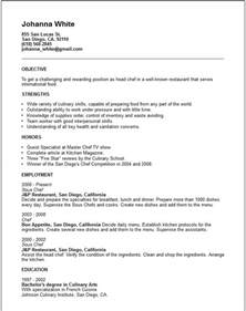 resume for chefs exles travel and tourism industry resume exles