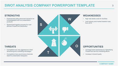 swot analysis template personal  powerpoint  matrix