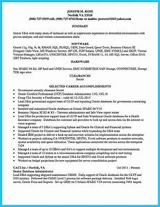 Example Medical Resume High Impact Database Administrator Resume To Get Noticed