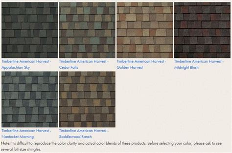 timberline shingle colors model 16 gaf timberline hd