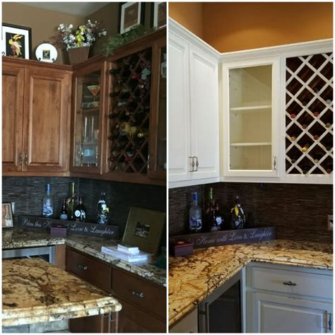refinished kitchen cabinets before and after white kitchen cabinets before and after restyle junkie 9212