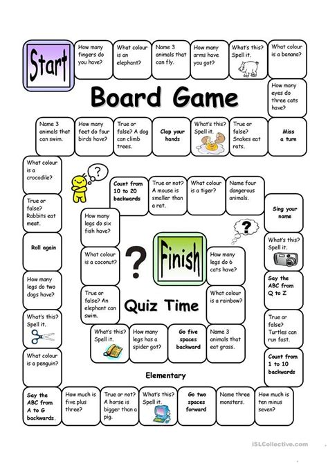 board game quiz time easy  images english