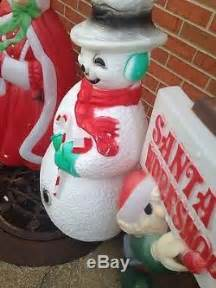 vintage blow mold santa ms clause snowman elf