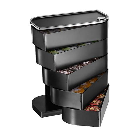 .knife storage coffee & tea coffee makers pour over & french press espresso makers teapots & teakettles coffee grinders coffee & tea accessories coffee mugs & teacups. Mind Reader Coffee Holder For 40 K Cup Boxes Black by Office Depot | Coffee pod storage, K cup ...