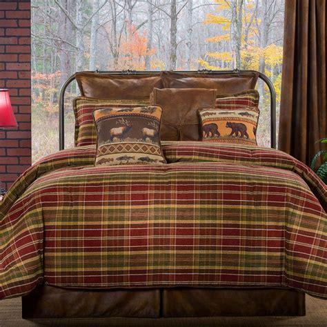 plaid comforter montana morning rustic plaid comforter bedding