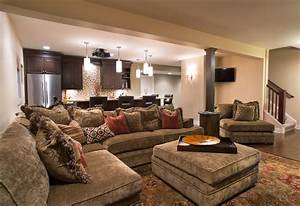 superb the big comfy couch decorating ideas With sectional sofa in basement
