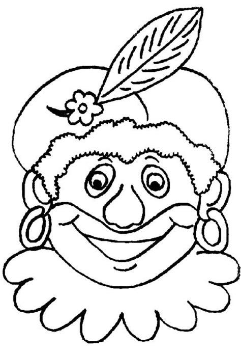 Kleurplaat Zwarte Piet Hoofd by Zwarte Piet Kleurplaat Sinterklaas Kleurplaat 187 Animaatjes Nl
