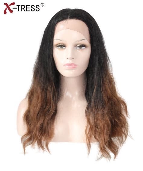 X Tress Synthetic Lace Front Wigs With Baby Hair Ombre