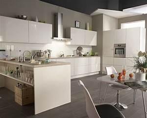 cuisine equipee facades blanc laque cuisine flash but With cuisine equipee blanc laque