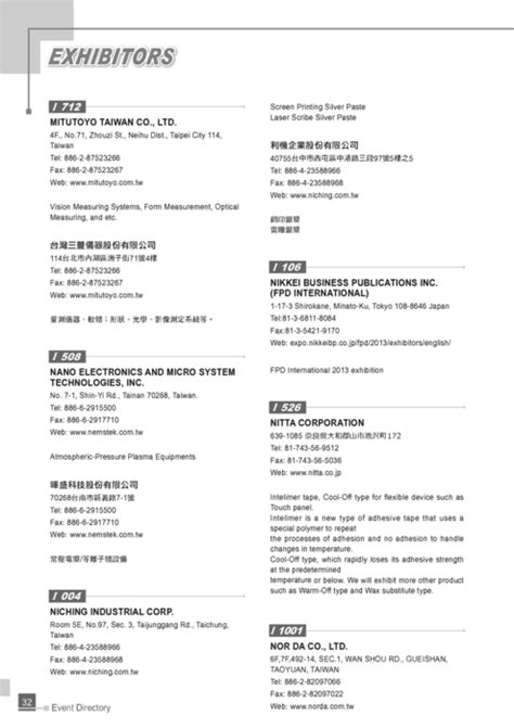 http gogofinder com tw books pida 2 2013 display 台灣平面顯示器展 參展名錄