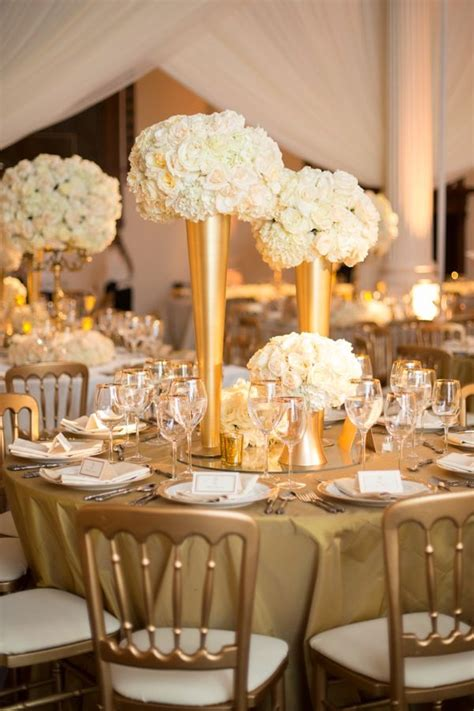 Wedding Decoration White And Gold Images   Wedding Dress, Decoration And Refrence
