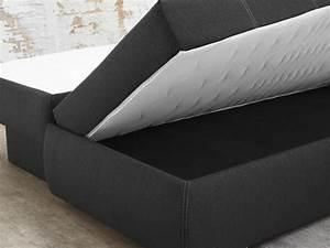 Boxspring Sofa Mit Bettfunktion : dauerschl fer schlafsofa 210x112cm dunkel grau sofa boxspring doppelliege merlin ebay ~ Indierocktalk.com Haus und Dekorationen