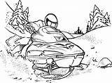 Snowmobile Coloring Doo Ski Polaris Template Rubber Stamps Scene Sketch Sheets Printable Stampin Colouring sketch template