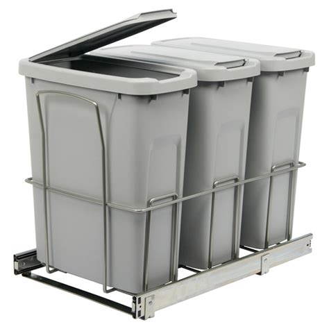 poubelle de cuisine coulissante poubelles coulissantes avec couvercles rona