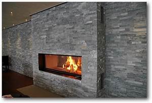 Kamin 3 Seiten : cooler look und trendiges design kamin mit naturstein ~ Frokenaadalensverden.com Haus und Dekorationen