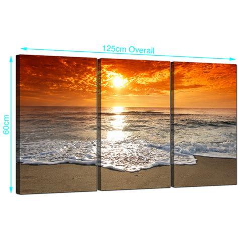 cheap beach sunset canvas prints uk set
