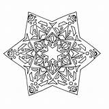 Kaleidoscope Coloring Pages Printable sketch template