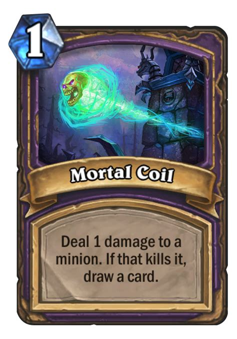 mortal coil hearthstone card
