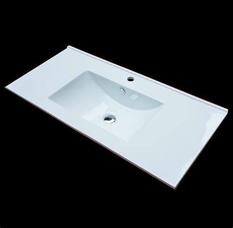 drop in vanity sink a drop in bathroom sink that ahs a rectangular form