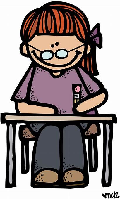 Melonheadz Writing Clipart Student Spelling Desk Cliparts