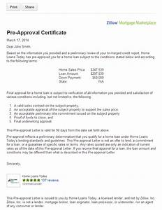 Get pre approved for a mortgage on zillow orange county for Home loan approval letter