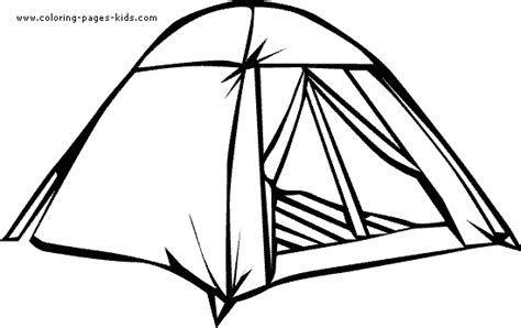 Camping Tent Coloring Pages
