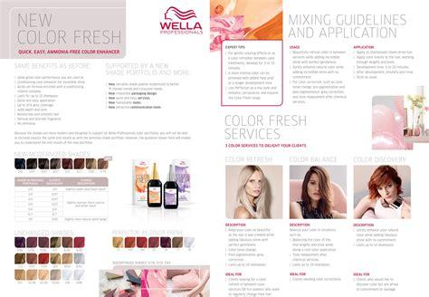 Wella Professionals New Color Fresh Color Chart 2016