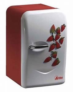 Frigo Mini Pas Cher : mini frigo 17 litres 39 ardes 39 12 220 volt design 39 fraises 39 ~ Nature-et-papiers.com Idées de Décoration
