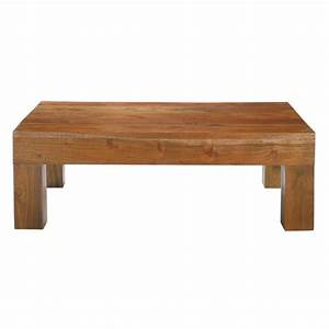 solid acacia coffee table w 90cm ceylan maisons du monde With solid acacia wood coffee table