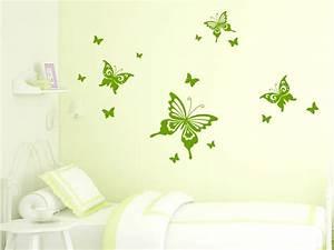 Wandtattoo Kinderzimmer Schmetterlinge : wandtattoo traumhafte schmetterlinge von ~ Sanjose-hotels-ca.com Haus und Dekorationen
