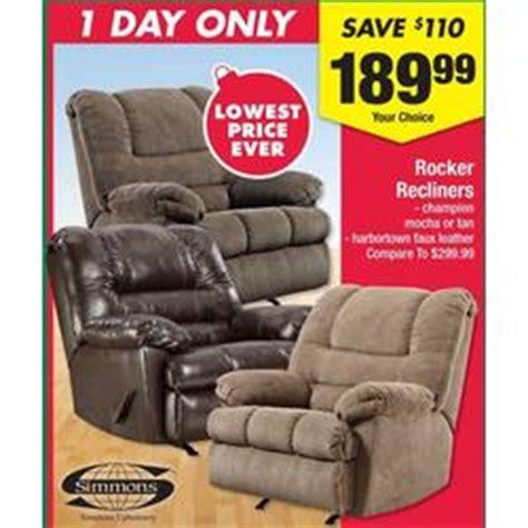 simmons rocker recliners thanksgiving at big lots black
