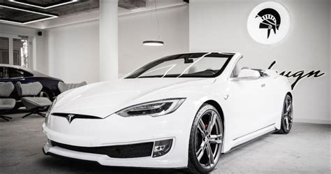 Tesla Model S Transformed Into A Stunning Two-Door Convertible
