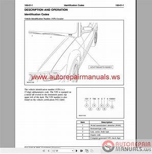 Ford Mustang S197 2005 Service Manual