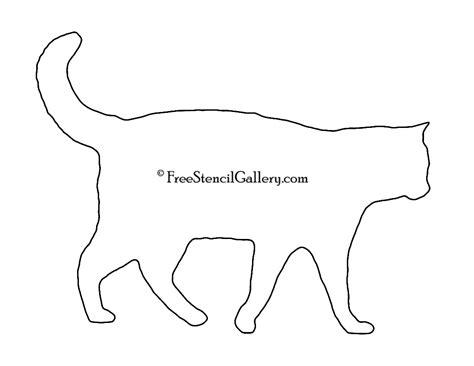 cat silhouette stencil  stencil gallery