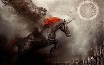 Ancient Unicorns Study Earth Unicorn Ago Fantasy