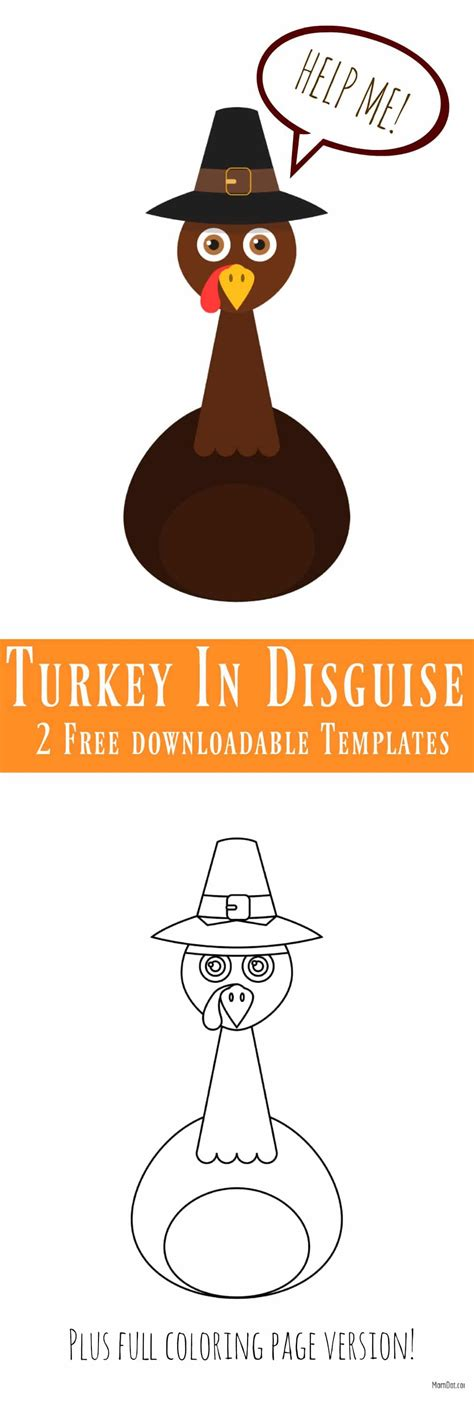 tom the turkey disguise printable templates turkey in disguise free printable template
