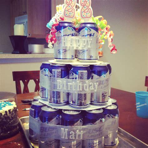 birthday beer cake    great idea   easy