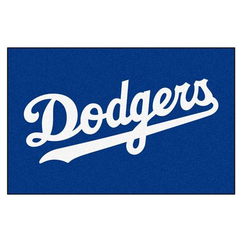 fanmats los angeles dodgers      accent rug