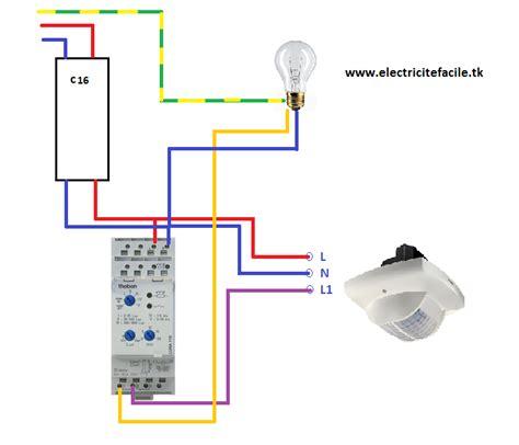 raccorder un d 233 tecteur de pr 233 sence avec un interrupteur cr 233 pusculaire schema electrique