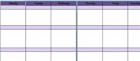 4 Week Schedule Template by 4 Week Work Schedule Template Ideal Vistalist Co