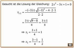 Nullstellen Berechnen Quadratische Funktion Aufgaben : quadratische gleichungen online erkl rung mit l sungsformel ~ Themetempest.com Abrechnung