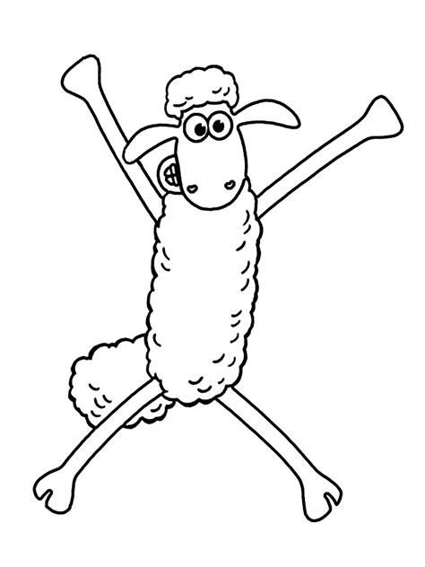 shaun  sheep coloring pages  kids  print