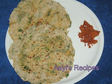 Moong Dal Methi Paratha Aayis Recipes