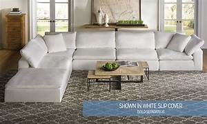 Luxe modular slipcover sectional haynes furniture for Sectional sofas virginia